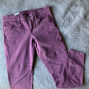 🛍 GAP Dark Purple Legging Jean, Size 28